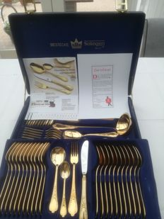 Solingen 23/24 carat gold plated cutlery
