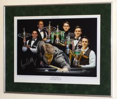 Ronnie O'Sullivan original autographed framed (large) photo + Certificate of Authenticity