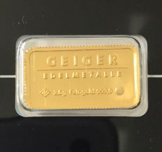 "Germany: 2.5 g gold bar Geiger Edelmetalle ""Castle Güldengossa"""