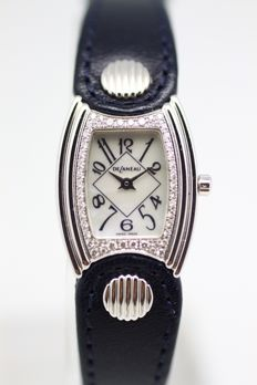 Delaneau Diamond White Gold Ladies Watch