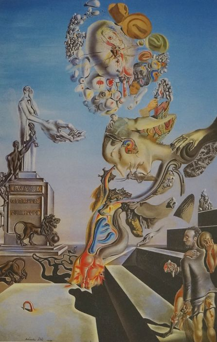 Salvador Dalí (after) - The dark game