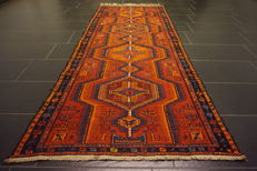 "Antique Persian oriental carpet, Soumak, Kilim, Shirvan, Russia / Caucasus, ""very good"", handmade carpet, 104 x 255 cm, wool on wool"