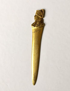 Paper knife in bronze, profile of Napoleon Bonaparte - signed Franoz Charles - 19th century
