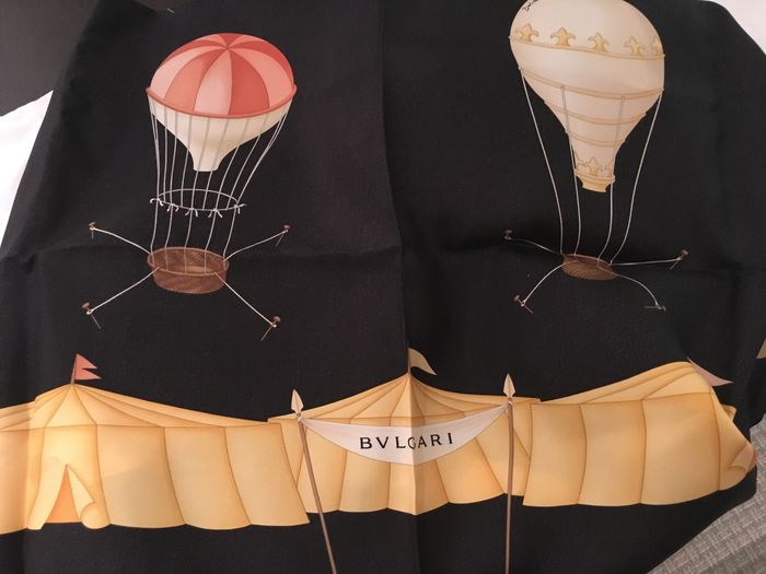 Bvlgari - Square scarf with zeppelin-shaped balloons