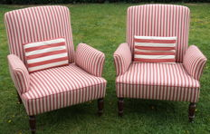 Pair of English  Arm Chairs from the 1920s