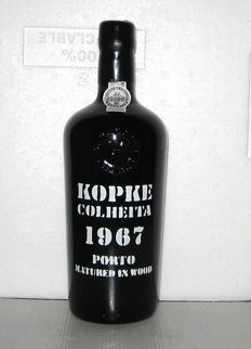 1967 Kopke Colheita Port - 1 bottle in Original Wooden case