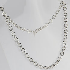 925 silver jasseron necklace – length: 44 cm