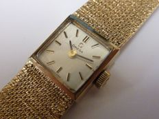 Omega 9ct solid gold ladies wrist watch 1973