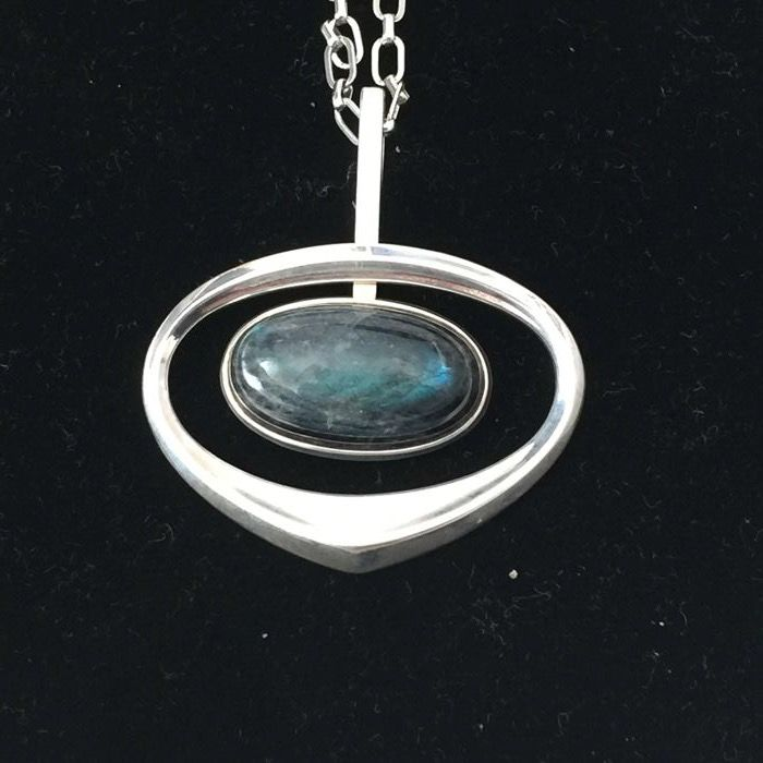 925 silver pendant on a 835 silver necklace (68 cm) from Norway