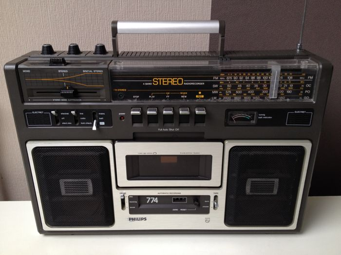 Philips 774 radio tape player and recorder
