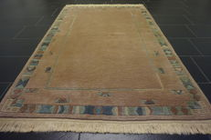 Beautiful, hand-knotted oriental carpet, Nepal designer rug, 120 x 190 cm