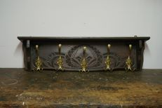 Oak coat rack with carvings, the Netherlands, 1st half of 20th century