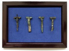 Ancient Roman bronze fibulas in the frame 15 mm / 43 mm (4)