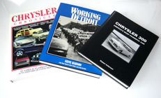 Chrysler Chronicle, 1998, 423 pages - Chrysler 300, Americas most powerful car, 1955-65, 156 pages - Working Detroit, 1986 edition, 252 pages -