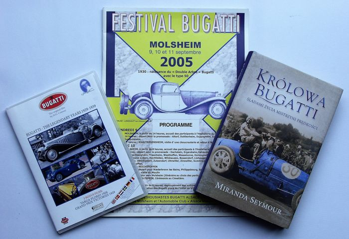 3 Bugatti items, books and films on a CD