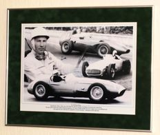 Sir Stirling Moss original autographed framed (large) photo + Certificate of Authenticity.