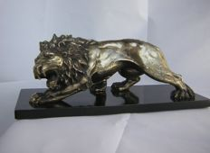 Silvery metal lion - Italy - 1940s/50s
