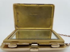 9ct Gold Sovereign Holder, Vanity Case, Blanckensee & Son Ltd, Birmingham, United Kingdom, early 20th century