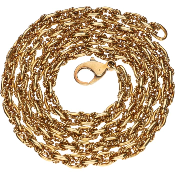 14 kt yellow gold link necklace - 48.5 cm