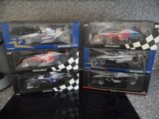 Minichamps - Scale 1/18 - Lot with 6 models: 5 x Williams & 1 x Mercedes-Benz