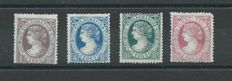 Spain 1865 – Isabel II telegraph stamps – Edifil No. 9/12