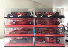 Minichamps - Scale 1/43 - Lot with 8 Ferrari F1 vehicles: 6 Schumacher & 2 Alesi