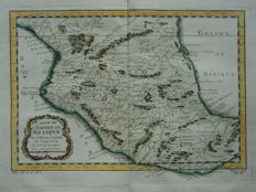 Mexico; Nicolas Bellin - Carte de l'Empire du Mexique (...) - 1758