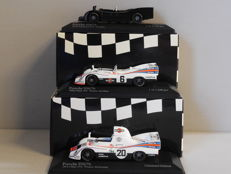 Minichamps - Scale 1/43 - Lot with 3 x Porsche 936/76 1976