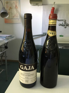 1976 and 1965 Barbaresco Gaja - 2 Bottles