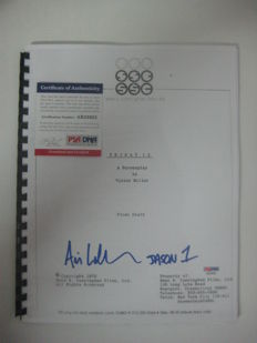 "Ari Lehman script for the movie ""Jason 1"" Authentic Signed Friday The 13th Film Script PSA / DNA 2"