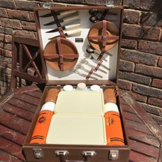 "Original English Picnic chest/case ""Sirram"" approx. 1960"