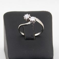 18 kt White Gold Ring with Diamonds 0.45 ct