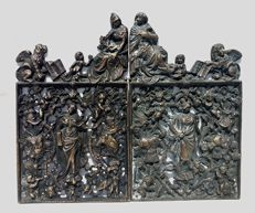 Bronze Gate finely - Venice, Italy around 1900.