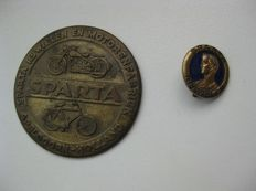 Sparta copper plate & Sparta brooch