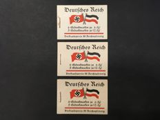 German Reich 1933 – Stamp booklets Fridericus – Michel 32.2, 32.3 and 32.4