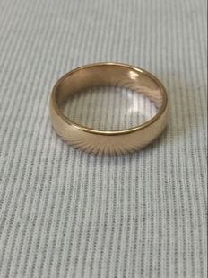 18K gold engagement ring