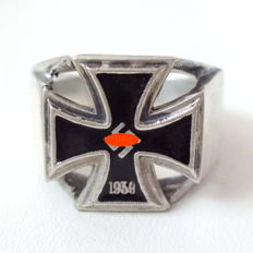 Commemorative ring made of 800 silver, Wehrmacht, WWII