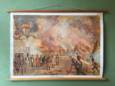 School poster Fire of Moscow, 1812
