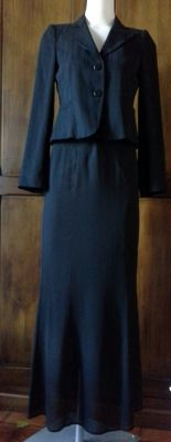Armani collection jacket, In trend (Max Mara) long silk skirt