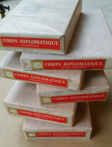 6 Sealed boxes of Corps Diplomatique cigars. 6 dozen CD sigaren.