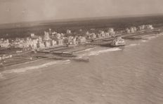 Year 1925 - Ostia Lido di Roma photographed from an airship