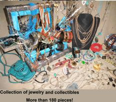 Over 180 items Jewelry and collectibles.