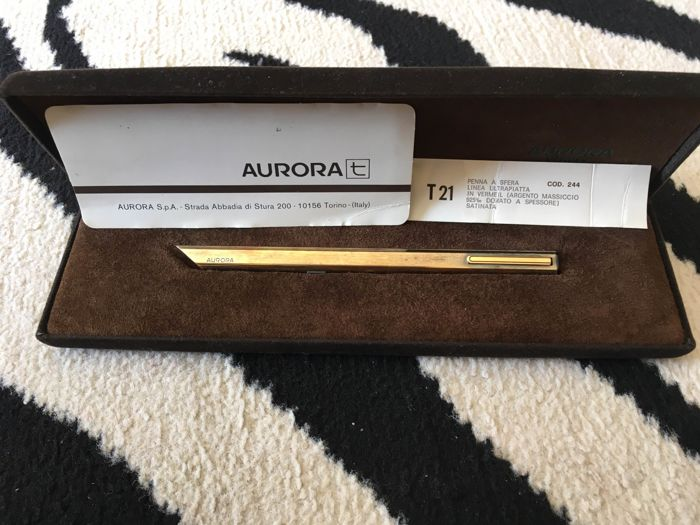 Aurora 925 sterling silver gold-plated ballpoint pen