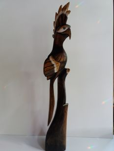Large (80cm) wooden art-deco style Cockatoo