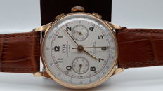 Swiss ITA men's chronograph in 18 kt gold - 1950s