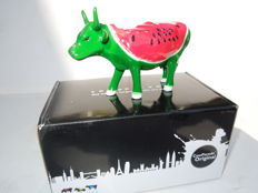 Cow Parade - Cowparade - Watermelon Cow- Medium - Resin