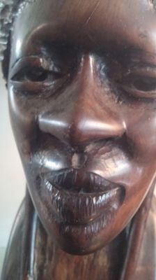 Bust of an African woman with a beautiful appearance