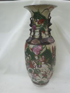 Very large Nanking/Nanjing, crackle  vase - China - 19th century