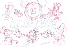 Vendetta, Z. - Original Sketch - Mickey Mouse Model Sheet