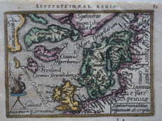 Scandinavia, Greenland; A. Ortelius/Ph. Galle - Septentrionalium Regionum Descriptio - 1588